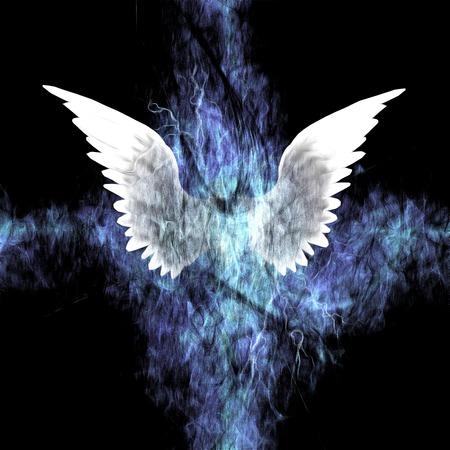 ange gardien: Ailes Peinture Banque d'images