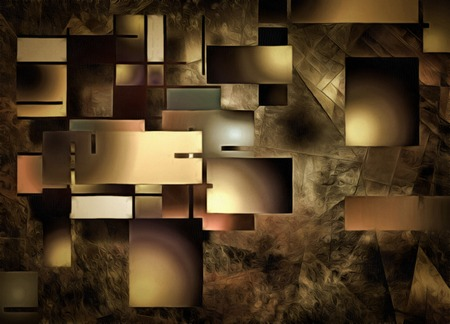 overlapping: Abstract Rectangular Shapes Composition