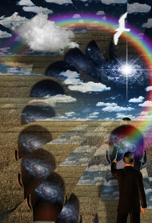 healing with chi: Teacher points to metaphysical mind
