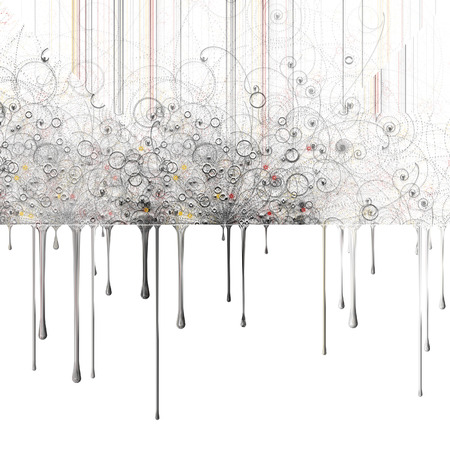 mondrian: Abstract particles and dripping paint