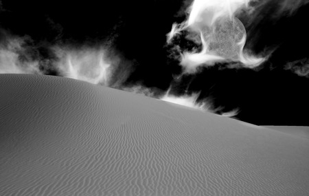 waterless: Desert Black and White Abstraction
