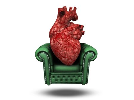 injuries: Heart on comfortable chair