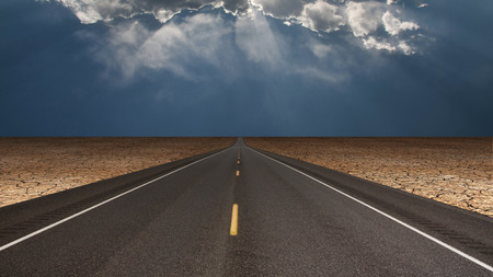 hiway: Road leads into desert