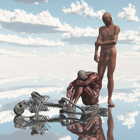 age: Man progresses toward death