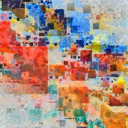 painterly: Colorful Painterly Abstract Stock Photo