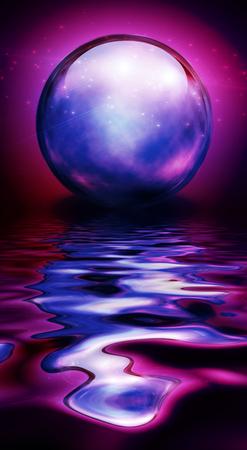 soothsayer: Cristal Esfera en tonos vivos y reflexiones