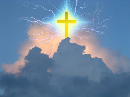 Croce irradia energia soprannaturale