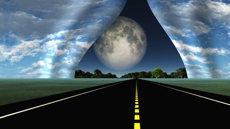 metaphors: Road leads into rip in fabric of reality