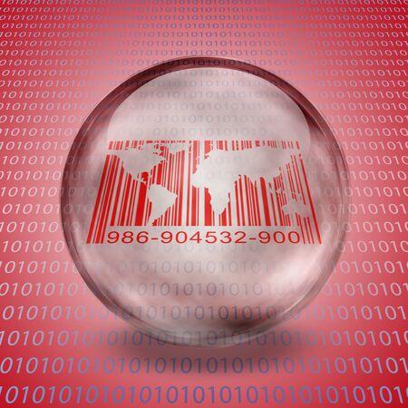World Barcode with binary Stok Fotoğraf