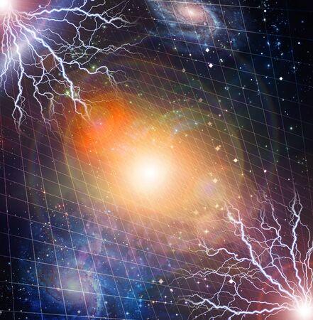 kosmos: Strom blinkt im Weltraum