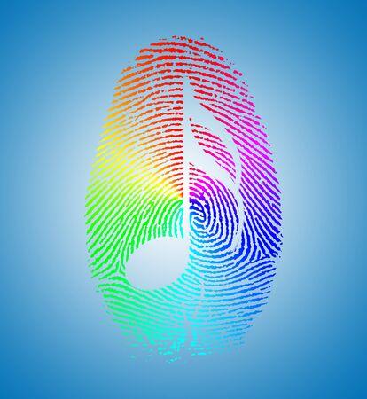sound proof: Rainbow Music Finger Print