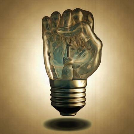 light bulb: Fist Light Bulb