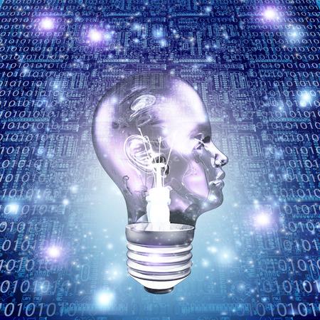 head light: Head Light Bulb with Binary