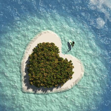 Heart Island Фото со стока - 46691874