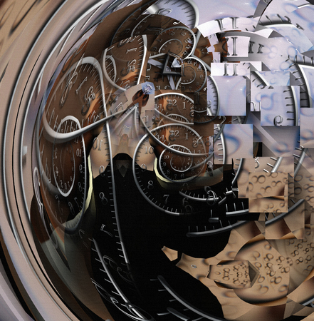 Time spirals spin through abstract space