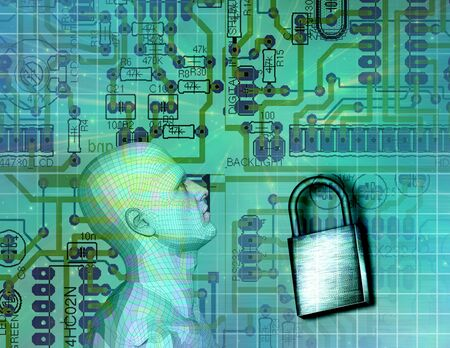 virus protection: Electronic Security Stock Photo