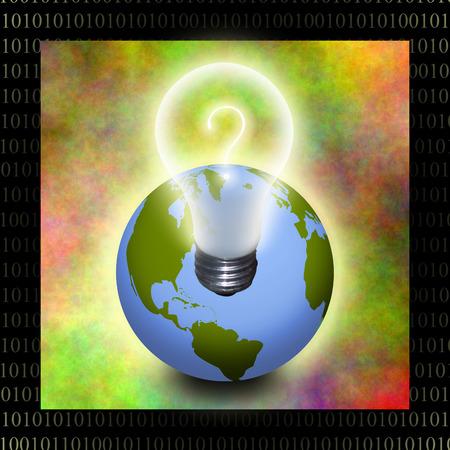 information age: Earth idea Stock Photo