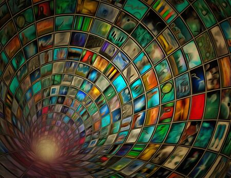 broadcast: Tunnel of images
