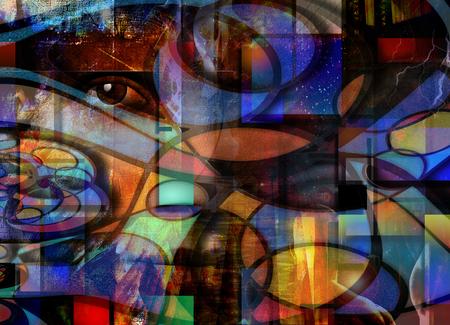 抽象からのアウト目ピア 写真素材