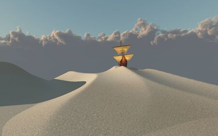 vessel: Ship in desert
