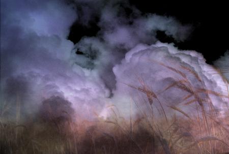 moonrise: Stormy Field