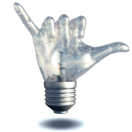 loose: Hang Loose Gesture Light Bulb Stock Photo