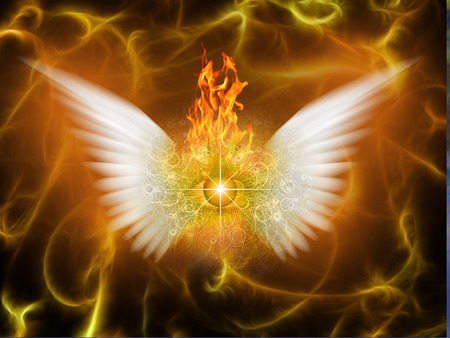 White winged being of fire