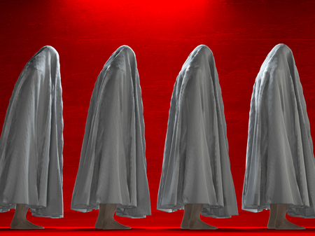 clothed: White clothed figures