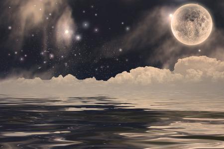 otherworldly: Fanastic Moon Landscape
