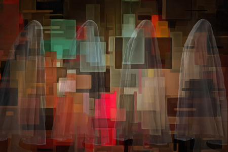 ghostly: Ghostly figures and geometric art