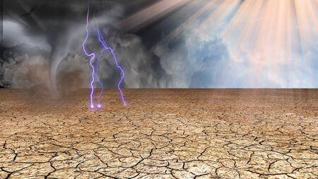 Donker en licht aan beide zijden van de aarde