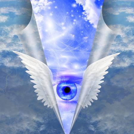 rosicrucian: Winged Eye Stock Photo