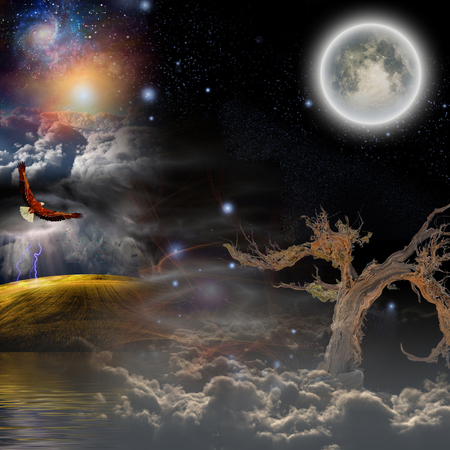 mystical: Mystical Landscape Composition