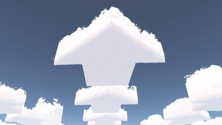 shaped: Arrow shaped clouds