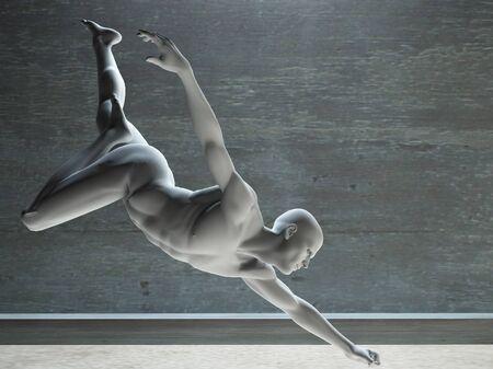 White figure reaching Stok Fotoğraf