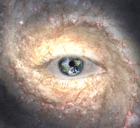 midst: Eye in midst of Galaxy with Earth Reflection