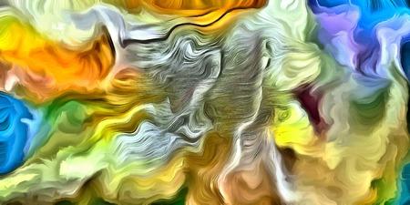 cuadros abstractos: Remolino de color abstracta