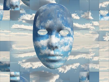 pintura abstracta: Nubes Cara
