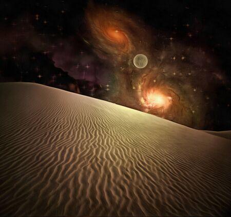 砂漠の夜 写真素材