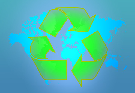 energy use: Earth recycle Stock Photo
