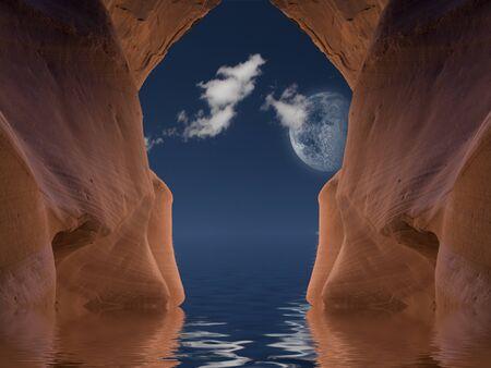 runoff: Cavern Water Stock Photo
