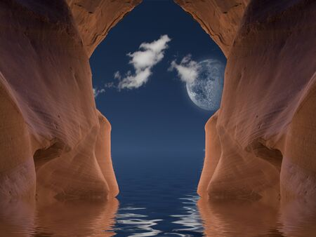 cavern: Cavern Water Stock Photo