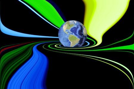 World swirls in color whirlpool