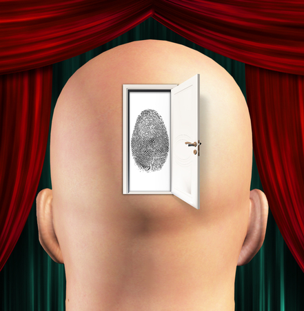 forensic science: Doorway to Identity Stock Photo