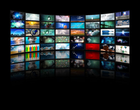 Multiple Video displays Stock Photo