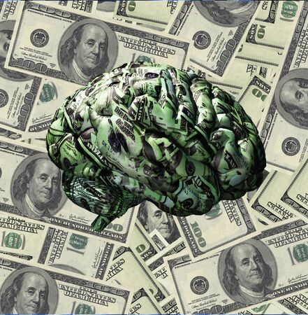 cerebra: Brain composed of US Currency