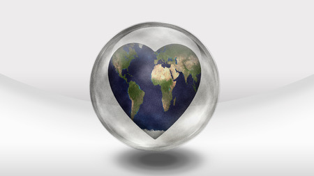 greenpeace: Earth Heart in glass container