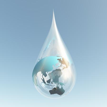 gaia: asia droplet Stock Photo