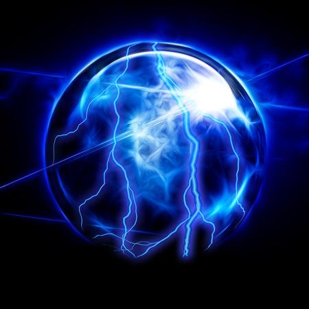 adivino: Bola de cristal el�ctrico Foto de archivo