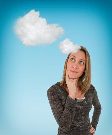 imagining: Young Woman Imagining
